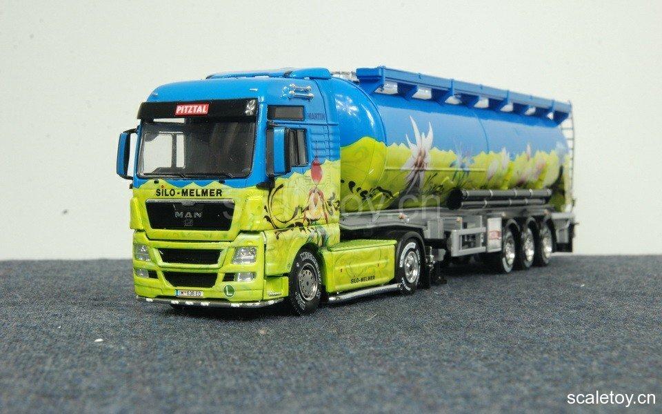[WSI] MAN TGX XXL 4*2 w/ 3x bulktrailer (MELMER livery) MAN TGX XXL两轴拖头挂三轴自卸罐车(MELMER涂装)
