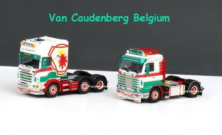 WSI 01-1313 Van Caudenberg Belgium Scania R Topline 6x2 voorloopas trekker Scania R143-500 Topline Streamline 4x2 trekker trekkerset