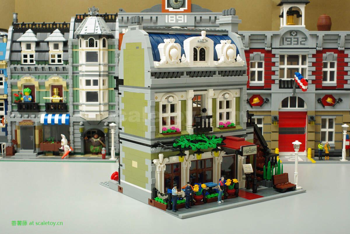 星球战机王玩具_比例模型玩具天地 » lego 10243 乐高 10243 巴黎餐厅